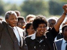 Нельсон Мандела с женой Винни