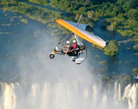 Полет на микролайте над водопадом Виктория | Гид в Кейптауне и ЮАР ...
