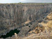 Высохший водопад Виктория